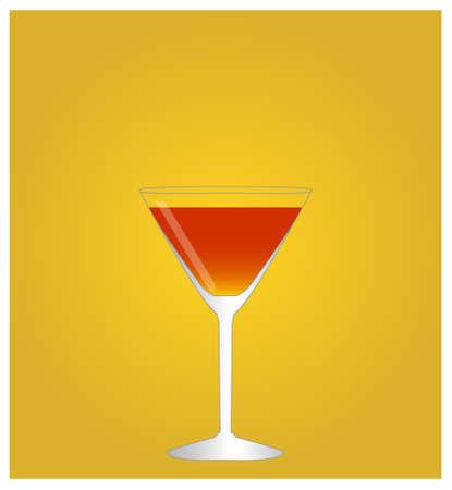 sweet vermouth: Minimalist Drinks List with Manhattan Golden Background