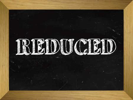 written: Reduced Text Written on a Chalkboard