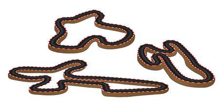 tarmac: Race Tracks 3D Perspective  Illustration