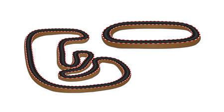 race winner: Race Tracks 3D Perspective  Illustration