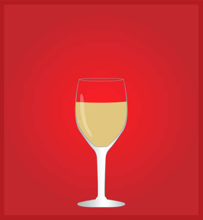 hangover: Minimalist Drinks List with White Wine Red Background
