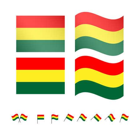 cochabamba: Bolivia Flags Illustration