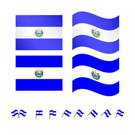 mesoamerica: El Salvador Flags