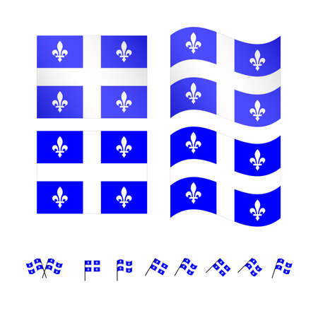 compatriot: Quebec Flags Vettoriali