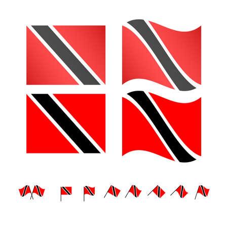 Trinidad and Tobago Flags Illustration