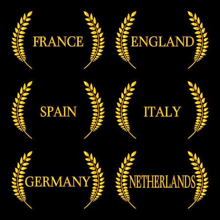 유럽의: Laurel Wreaths European Countries