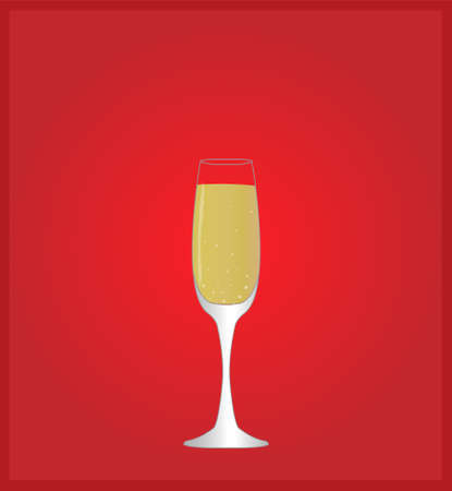 Minimalist Drinks List with Champagne Red Background