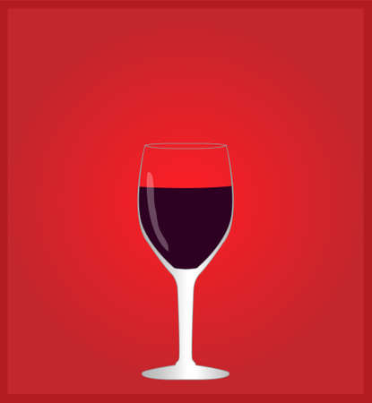 Minimalist Drinks List with Red Wine Red Background Stok Fotoğraf - 42702109