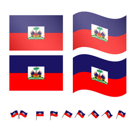 creole: Haiti Flags  Illustration