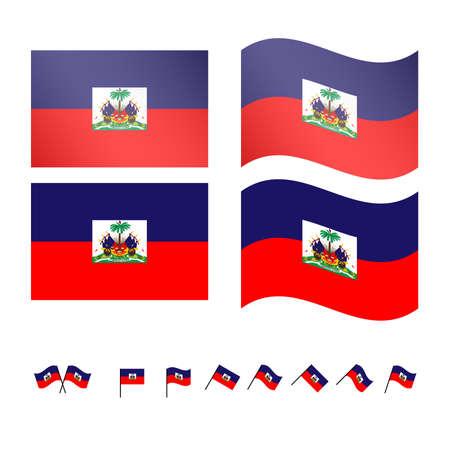 Haiti Flags  Illustration