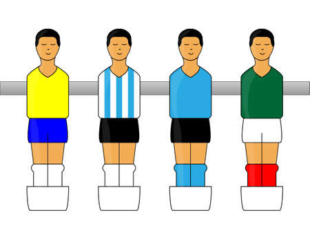 american table: Table Football Figures with Latin American Uniforms