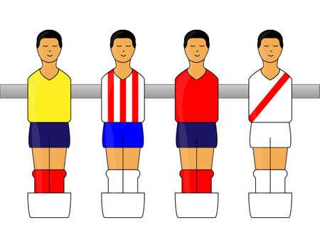 latin american: Table Football Figures with Latin American Uniforms