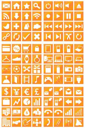bronze background: 96 Icons Set Bronze Background Illustration