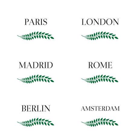 capitals: Laurel Wreaths European Capitals