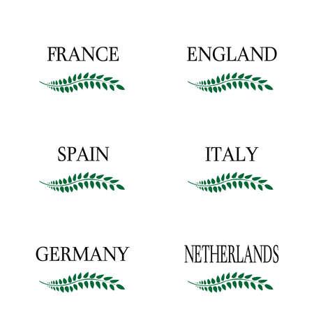 european countries: Laurel Wreaths European Countries