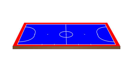 offside: Futsal Court 3D Perspective Illustration