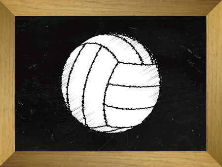volleyball player: Sports Ball Drawn on a Chalkboard