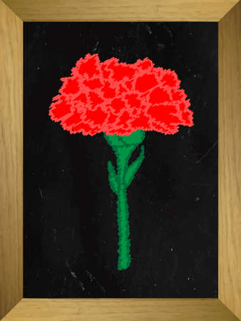 carnation: Carnation Drawn on a Chalkboard Illustration