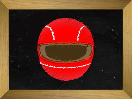 racing sign: Racing Helmet Drawn on a Chalkboard Illustration