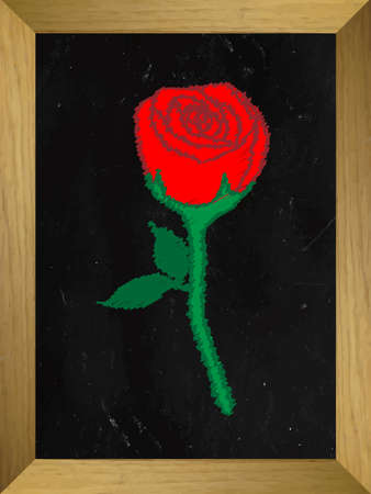 rose: Rose Drawn on a Chalkboard