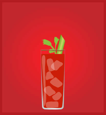 date night: Minimalist Drinks List with Bloody Mary Red Background