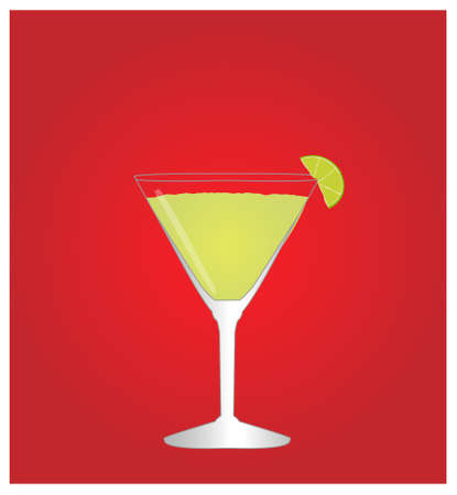dinner date: Minimalist Drinks List with Daiquiri Red Background