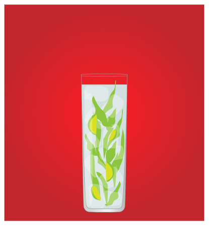 highball: Minimalist Drinks List with Mojito Red Background