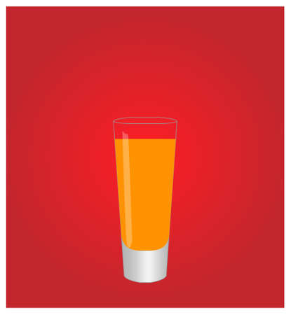 dinner date: Minimalist Drinks List with Shooter Red Background
