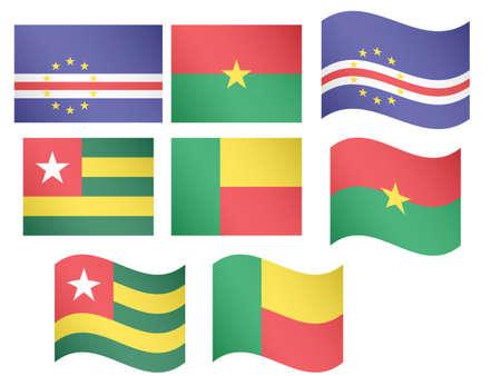 praia: African Flags