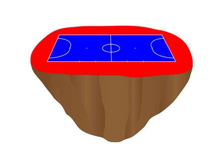 isla flotante: Isla de F�tbol Sala de la Corte flotante Vectores