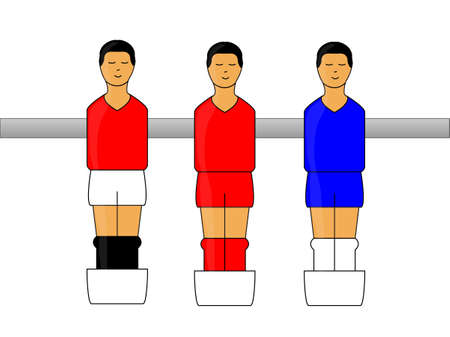 little league: Table Football Figures with English League Uniforms