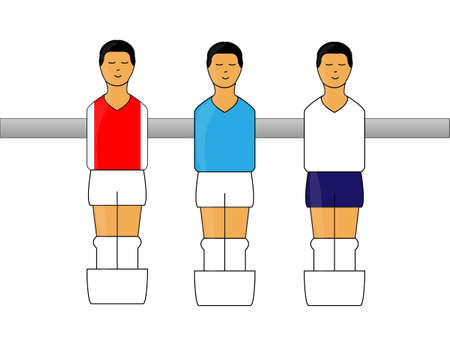 little league: Table Football Figures with English League Uniforms