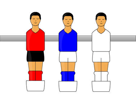 Table Football Figures with German League Uniforms