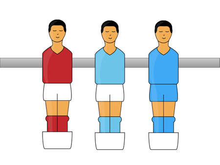 serie: Table Football Figures with Italian League Uniforms  Illustration