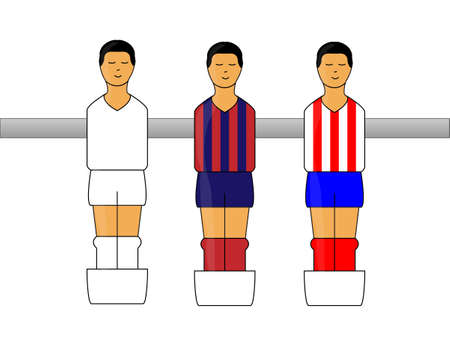 jersey: Table Football Figures with Spanish League Uniforms