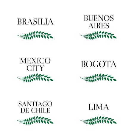 chapiteaux: Laurel Couronnes Capitals latino-am�ricains Illustration