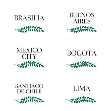 capitals: Laurel Wreaths Latin American Capitals
