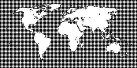 mundi: World Map Dotted Black 1 Big Dots Illustration