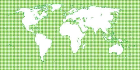 mundi: World Map Dotted Green 1 Big Dots
