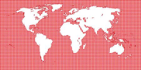 mundi: World Map Dotted Red 1 Big Dots