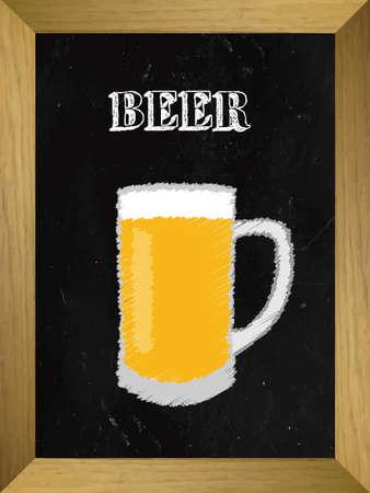 Beer List on a Chalkboard 1 Illustration