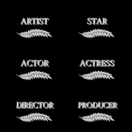famous actress: Film Stars Laurels 3D 6