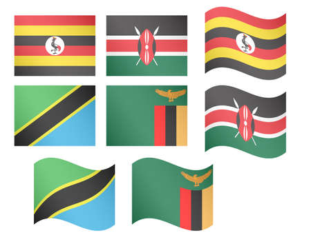 African Flags illustrations