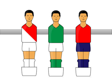 lille: Table Football Figures with French League Uniforms 2
