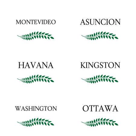 capitals: Laurel Wreaths America Capitals 7 Illustration