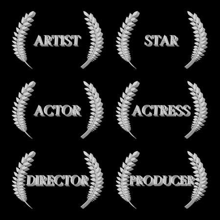 famous actress: Film Stars Laurels 3D 5 Illustration