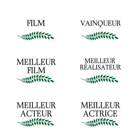 star award: Film Winners Laurels in French 3 Illustration