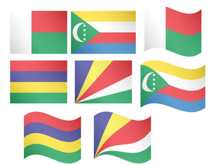 African Flags 12 illustrations