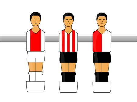 striker: Table Football Figures with Dutch League Uniforms 1