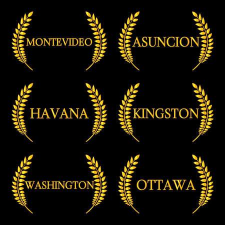kingston: Laurel Wreaths America Capitals 6